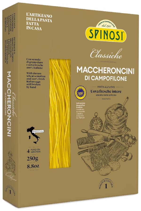 Maccheroncini Campofilone uovo 250gr Spinosi