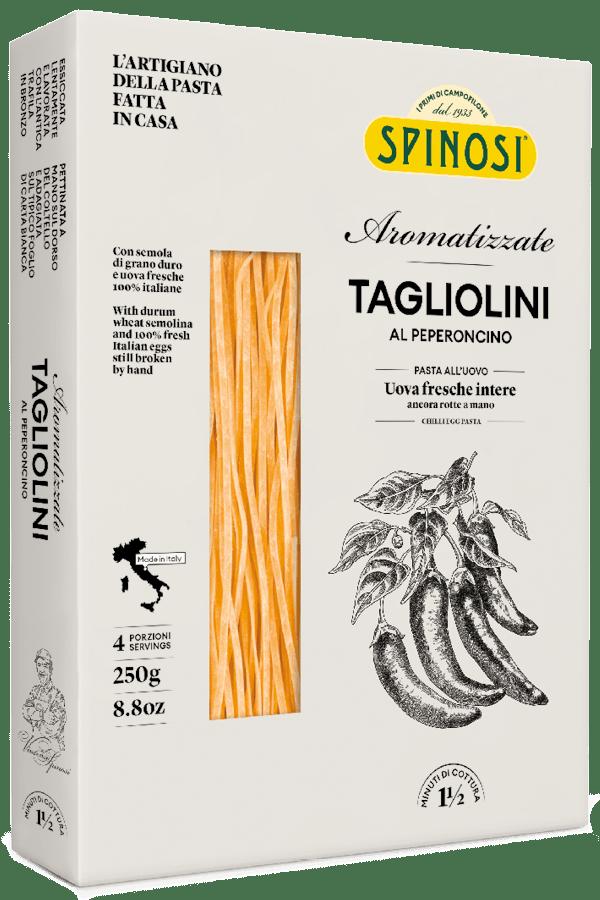 Tagliolini uovo al peperoncino 250gr Spinosi